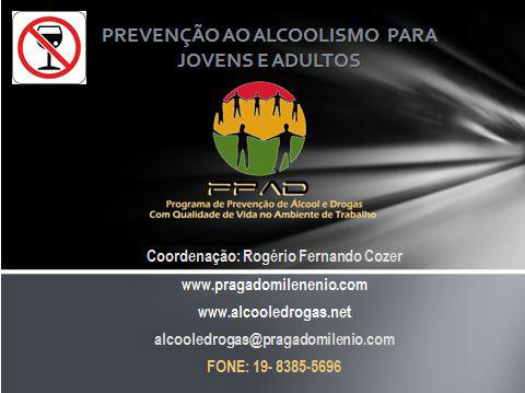 Palestra Power Point Prevenção ao Alcoolismo