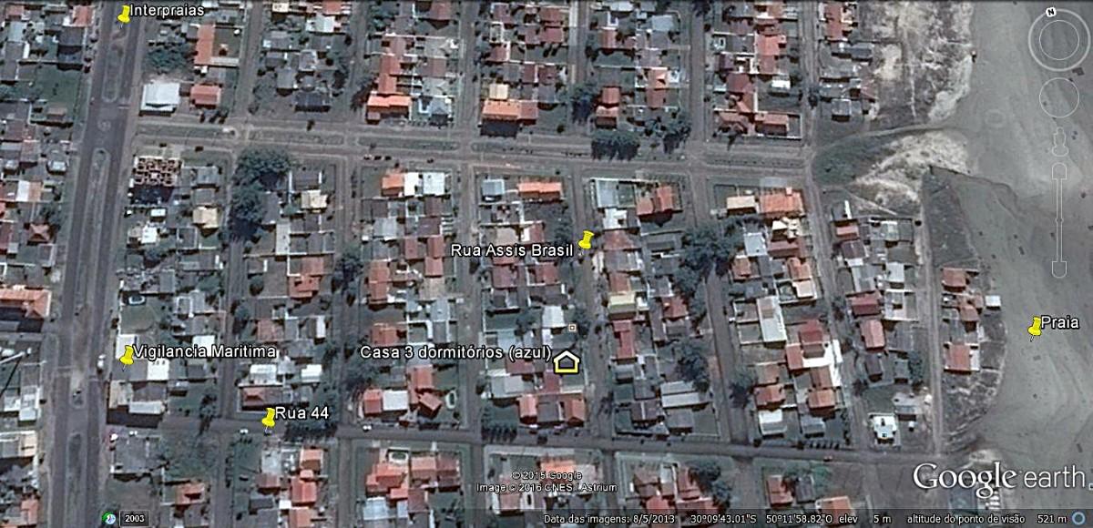 Mapa localização casa 3 dormitórios