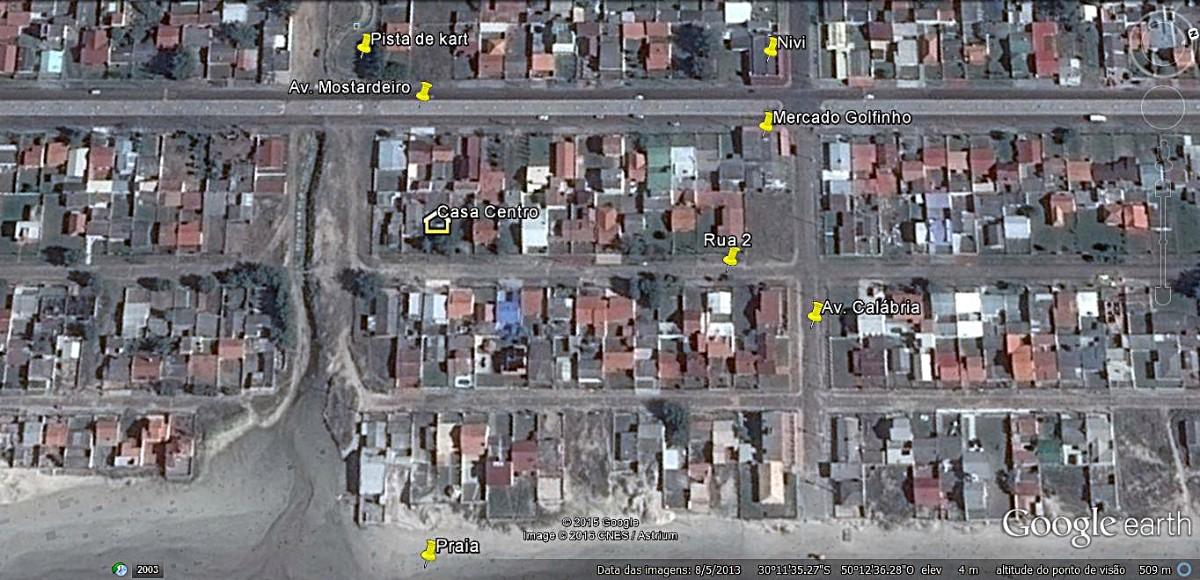 Mapa localização casa centro
