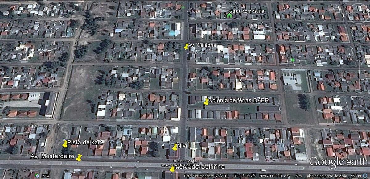 Mapa localização casa com suíte