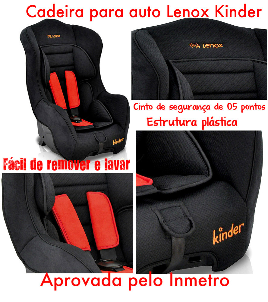 cadeira para auto lenox kinder preto e vermelho. Black Bedroom Furniture Sets. Home Design Ideas