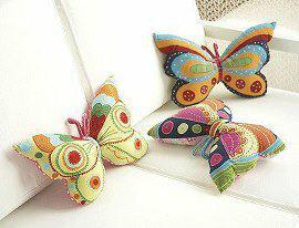 almofada borboleta