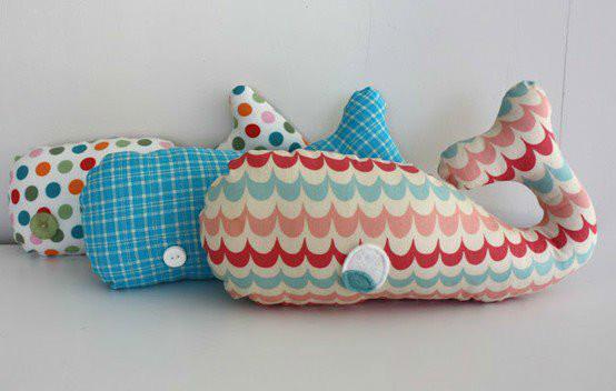 almofada baleia