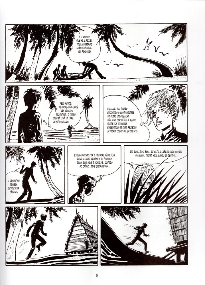 Prancha de: CORTO MALTESE - 5 . BALADA DO MAR SALGADO Vol.3 (A)