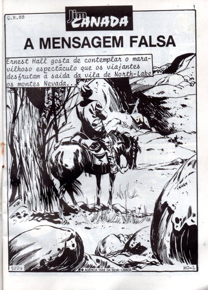 Prancha de: JIM CANADA - 82 . MESAGEM FALSA (A)