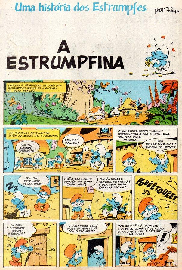 Prancha de: SCHTROUMPFS - 3 . ESTRUMPFINA (A)
