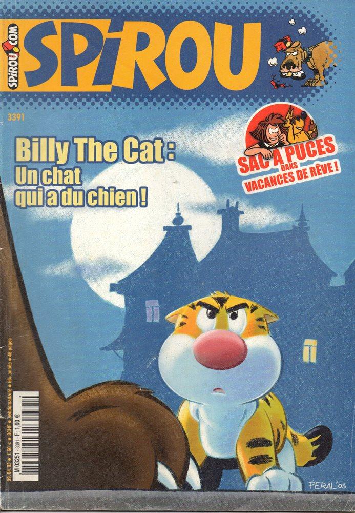 BILLY THE CAT - SPIROU - BÉLGICA . N.º 3391