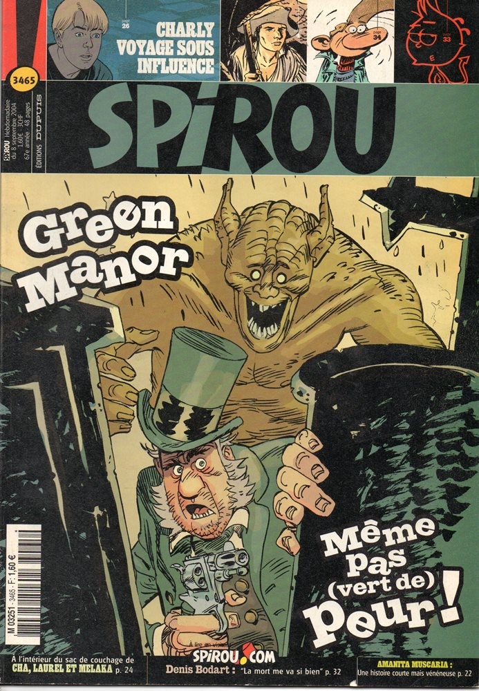 GREEN MANOR - SPIROU - BÉLGICA . N.º 3465