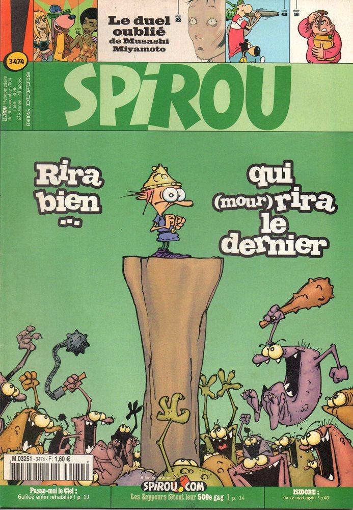GAME OVER - SPIROU - BÉLGICA . N.º 3474