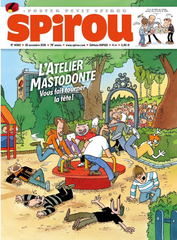 ATELIER MASTODONTE (LE) - SPIROU - BÉLGICA . N.º 4050