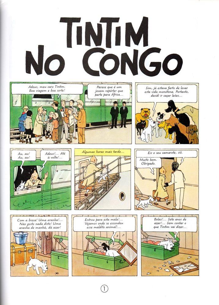 Prancha de: TINTIN - 2 . TINTIN NO CONGO