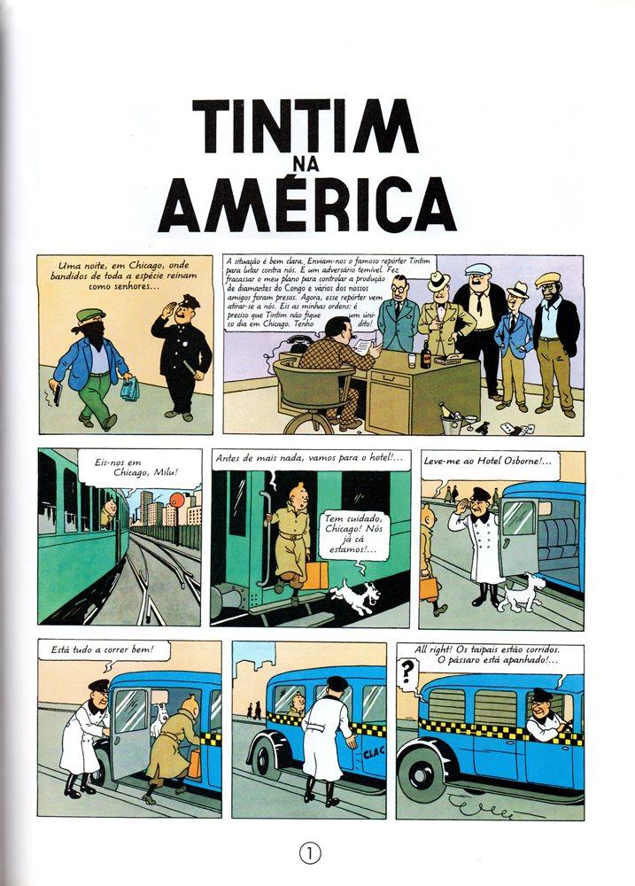 Prancha de: TINTIN - 3 . TINTIN NA AMÉRICA