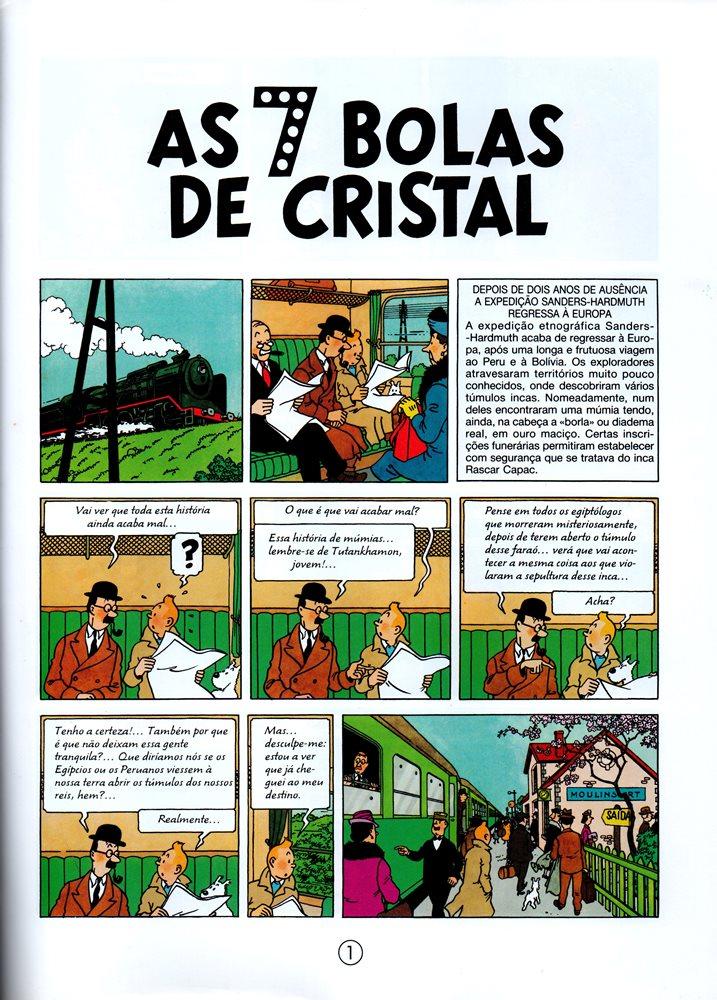Prancha de: TINTIN - 13 . 7 BOLAS DE CRISTAL (AS)