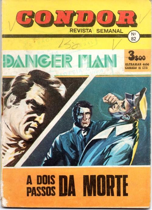 MANDRAKE - 14 . MISTÉRIO DO CHEFE DESCONHECIDO (O) ...Erro na Capa que indica uma aventura de Danger Man