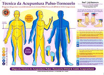 mapa acupuntura pulso tornozelo enomoto