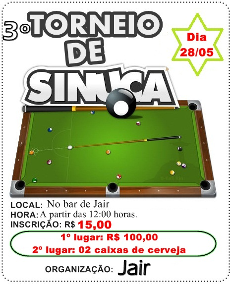 III TORNEIO DE SINUCA DO JAIR