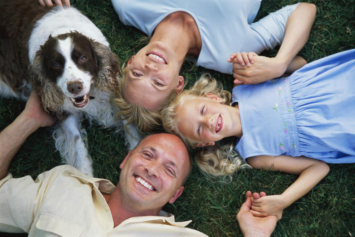 украинская семьи и домашние животные