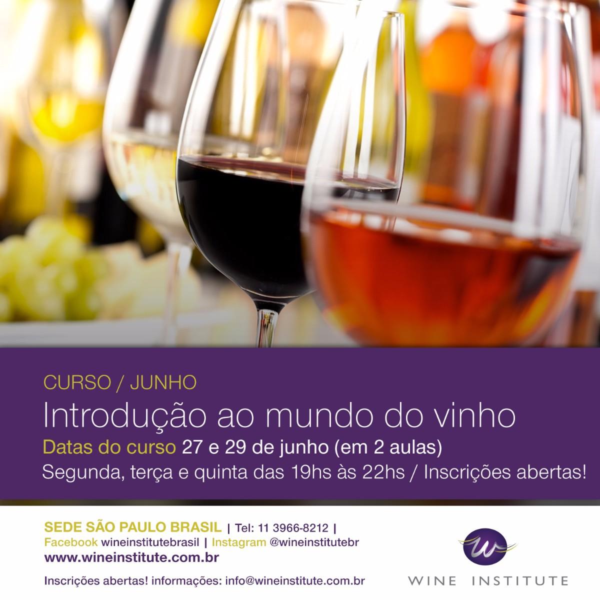 Curso Introdução ao Mundo do Vinho