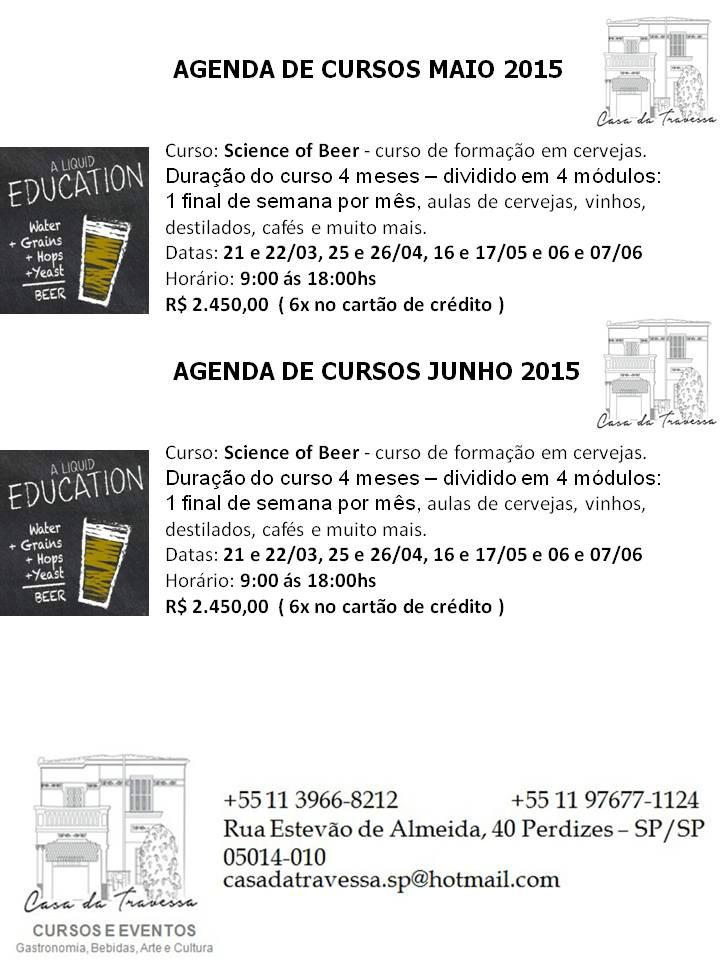agenda de cursos