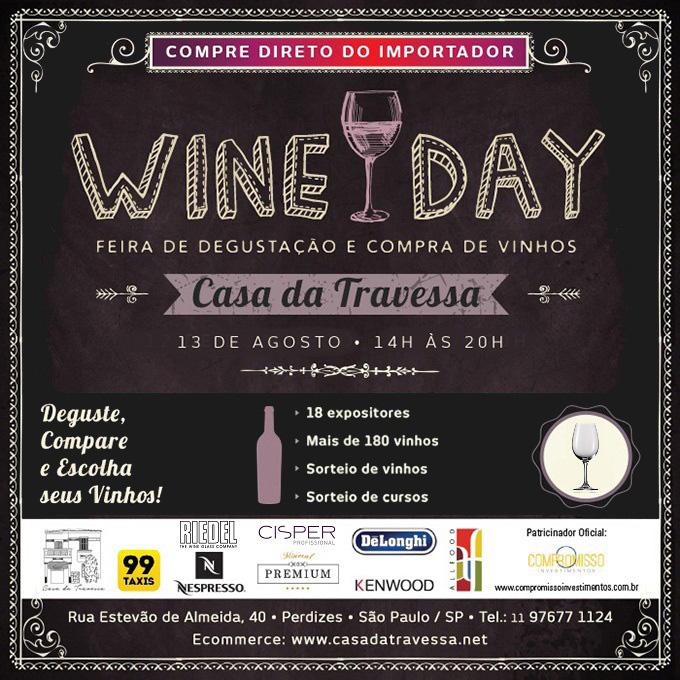Convite Wine Day de Inverno