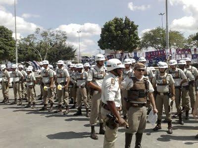 pm em greve na Bahia
