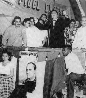 Fidel candidato pelo Partido Ortodoxo - a liberdade partidária que teve, a tirou de Cuba