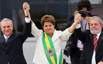 Dilma, Temer e Lula