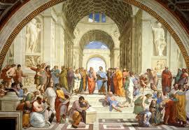 Universidade de Atenas- Pintura de Rafael Sanzio