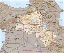mapa curdo