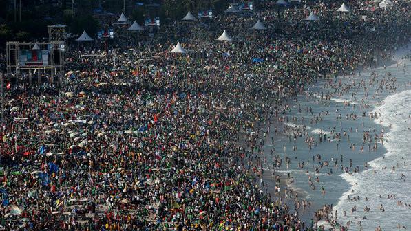 três milhões e meio de jovens e o Papa Francisco I