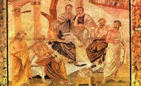 Morte de Sócrates por cicuta -com seus amigos