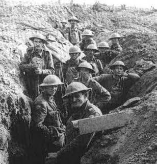 soldados portugueses entrincheirados- 1a guerra