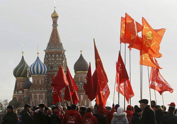 Praça Vermelha no auge do comunismo