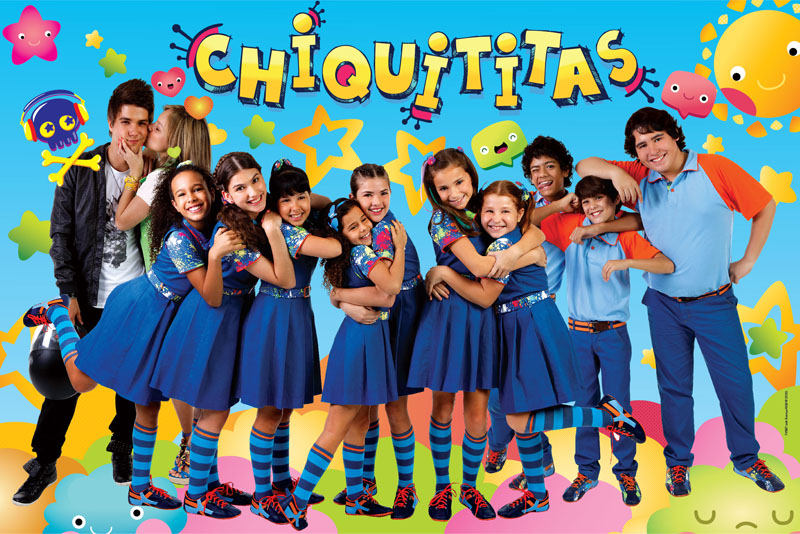 Mochila Escolar Feminina Turma Chiquititas De Costas Rosa