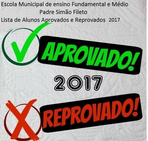 Lista de Aprovados Reprovados 2017