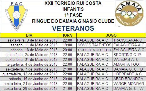 VETERANOS TORNEIO RUI COSTA 2013
