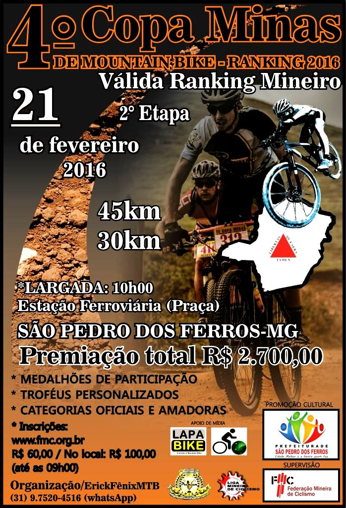 COPA MINAS DE MOUNTAIN BIKE 2016
