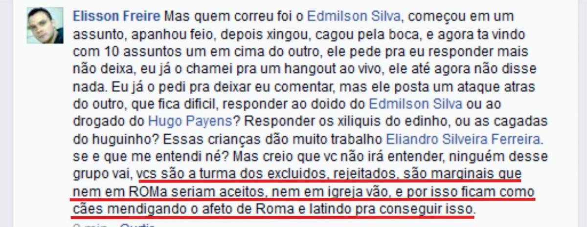 Contra Edmilson Silva