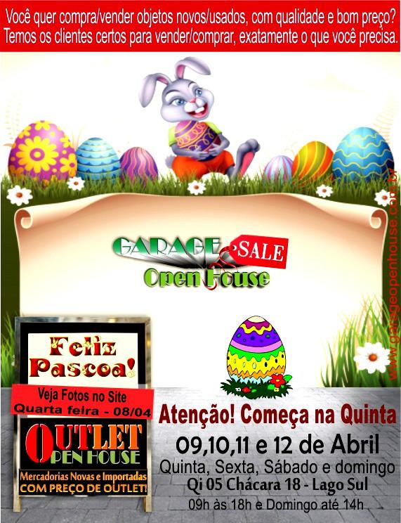 Newsletter Garage Sale Open House deseja FELIZ PÁSCOA!