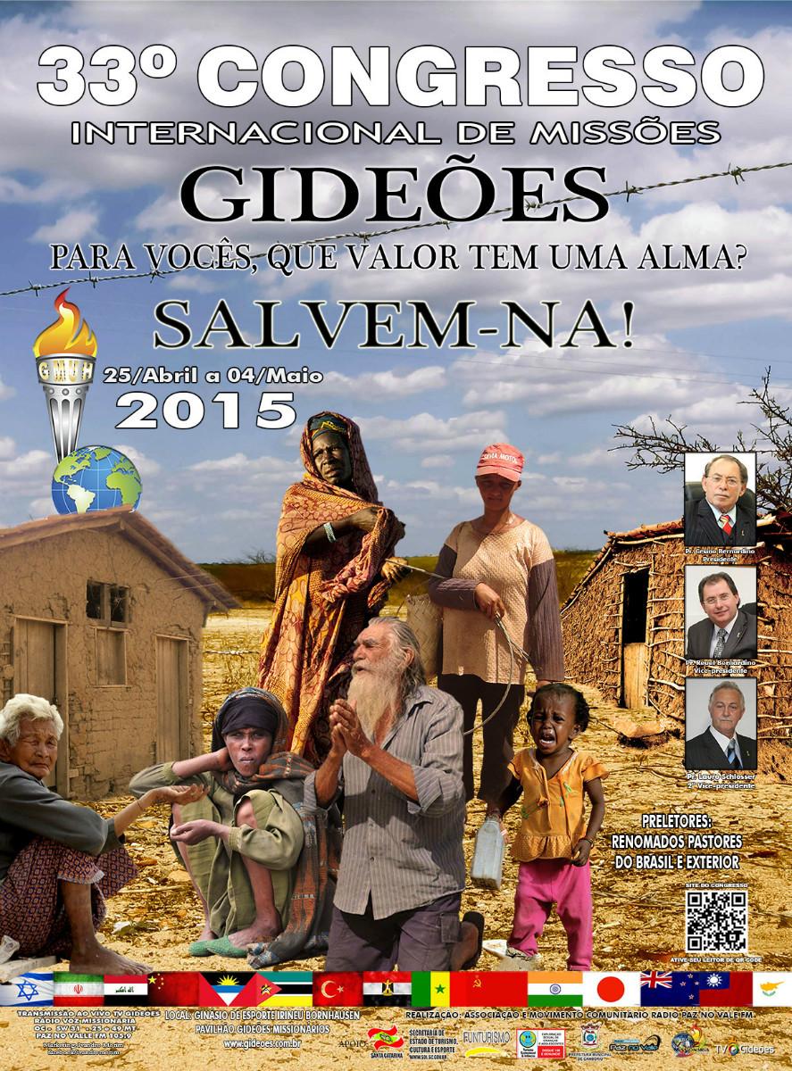 Cartaz Gideões Missionários 2015
