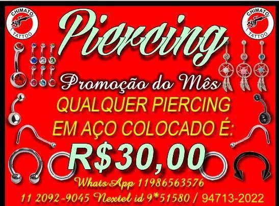 Promoção piercing  20929045