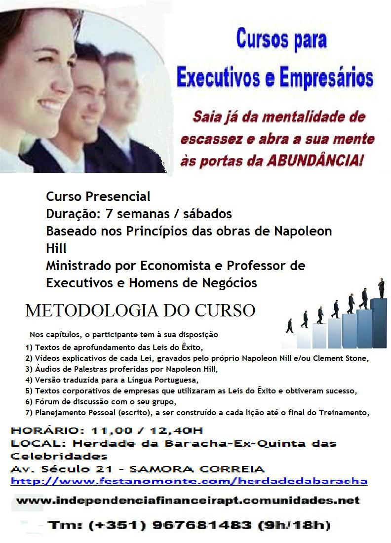 cartaz curso presencial para executivos 7 semanas