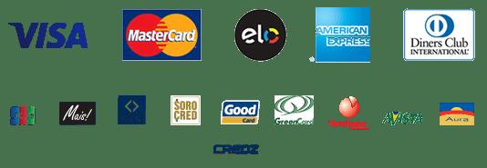 Cartoes Aceitos na Cielo Visa MasterCard Elo American Express Diners Club