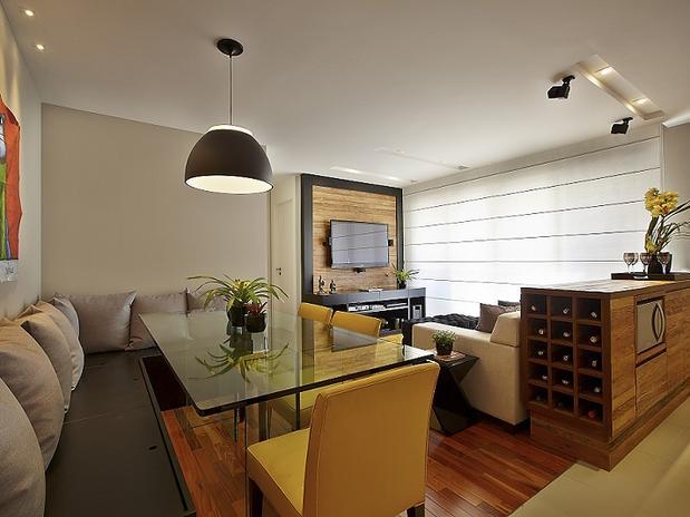 Banco De Sala De Jantar ~ Nossa Casa Verde Sala de jantar com banco
