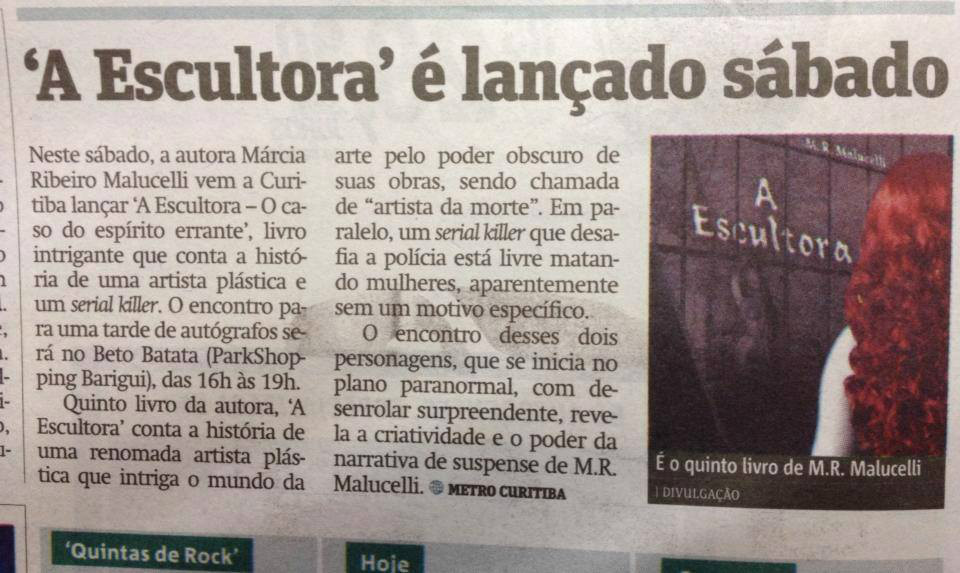 A Escultora no Metro Curitiba