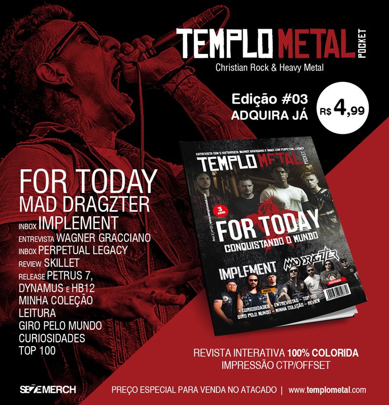 2016 começou com tudo para nós! Uma matéria exclusiva sobre o Petrus7 em uma das mais conceituadas revistas de Rock e Metal do Brasil! Confira..