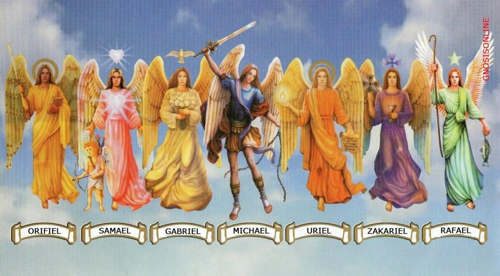 Imagem de anjos.