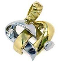 pingente folheado ouro e prata