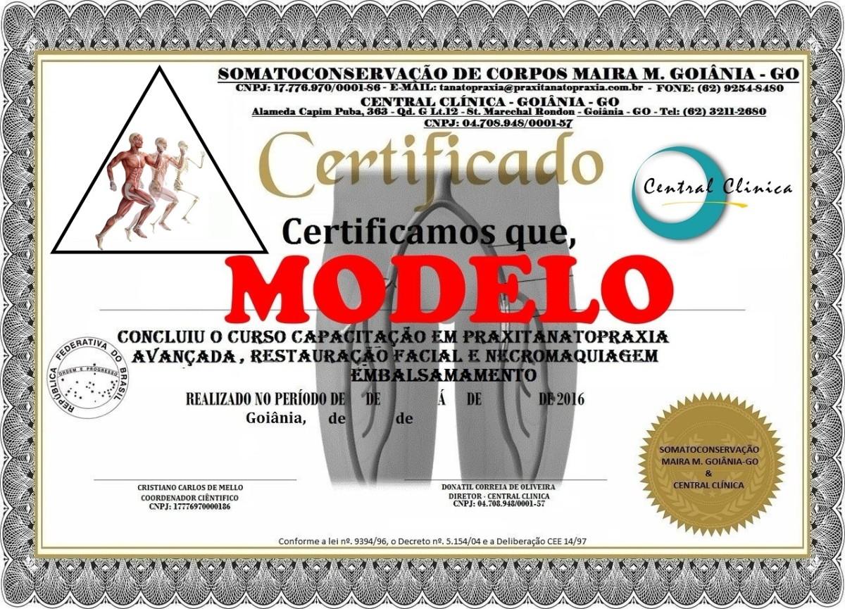 Cursos de Tanatopraxia Goiânia, Somato-conservação de Corpos Maira M. Goiânia, Central Clinica