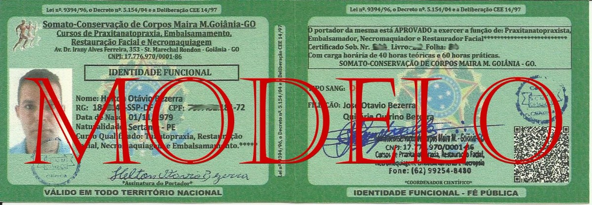 Identidade Tanatopraxia, Curso de Tanatopraxia, Somato-Conservação de Corpos Maira M. Goiânia, Central Clínica